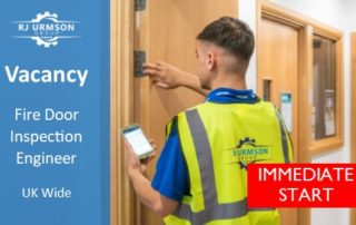 Fire Door Engineer UK Advert